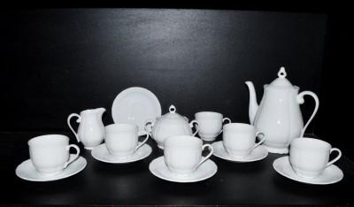 Kávová souprava Verona, bílá kávová souprava 15 dílná. G. Benedikt
