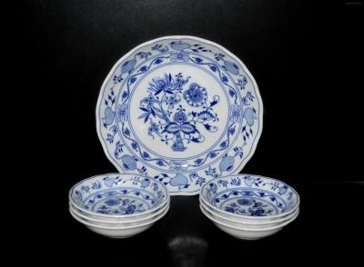 Kompotová souprava cibulák originál 5046 Český porcelán
