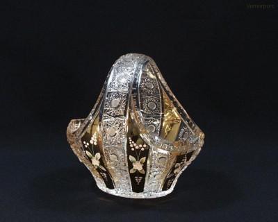Koš broušený křišťálový 96027/57113/200  20cm. Tom Crystal Bohemia