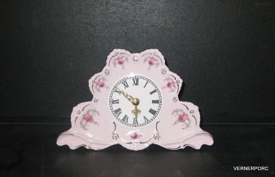 Krbové hodiny Lenka z růžového porcelánu Epiag