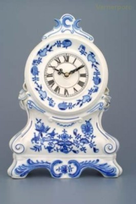 Krbové hodiny s růžičkami 28cm Český porcelán