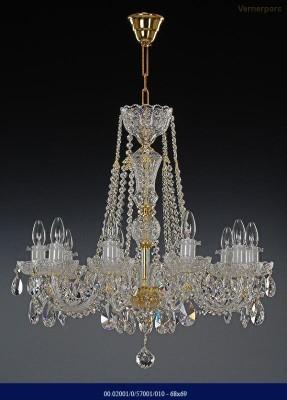 Křišťálový broušený lustr 10-ramenný 68x69cm Tom Crystal Bohemia