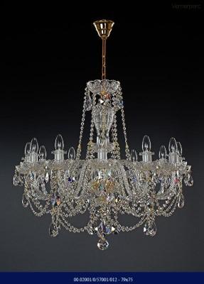 Křišťálový broušený lustr 12-ramenný 79x75cm Tom Crystal Bohemia