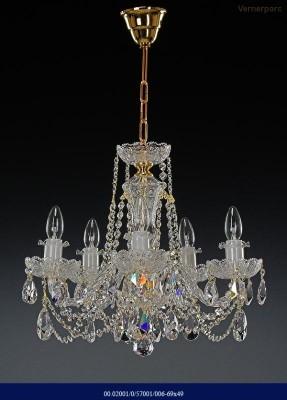 Křišťálový broušený lustr 6-ramenný 69x49cm Tom Crystal Bohemia