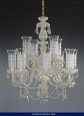 Křišťálový broušený lustr 8+4-ramenný 79x96cm Tom Crystal Bohemia