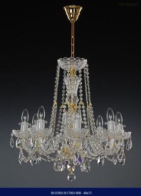 Křišťálový broušený lustr 8-ramenný 60x75cm Tom Crystal Bohemia