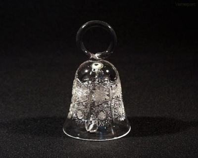 Křišťálový broušený zvonek 17094/57001/096   10cm. Tom Crystal Bohemia