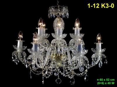 Křišťálový lustr 12-ramenný 60x52cm PL, INL