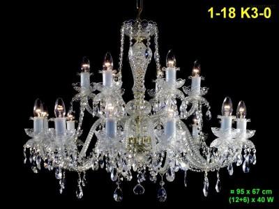Křišťálový lustr 18-ramenný 95x67cm PL, INL