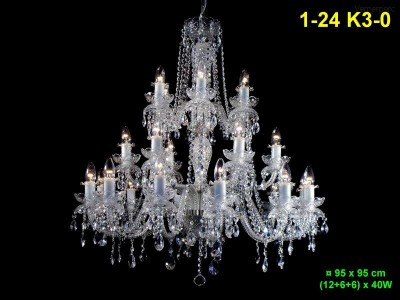 Křišťálový lustr 24-ramenný 95x95 cm PL, INL