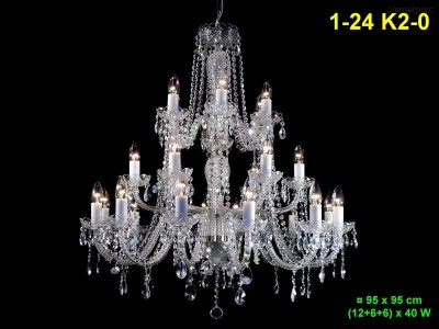 Křišťálový lustr 24ramenný 95x95 cm PL, INL