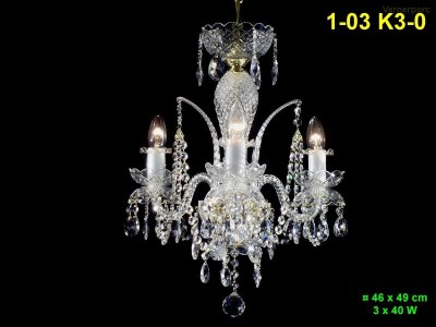 Křišťálový lustr 3-ramenný 46x49cm PL, INL