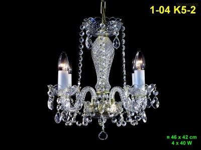 Křišťálový lustr 4-ramenný 46x42cm PL, INL