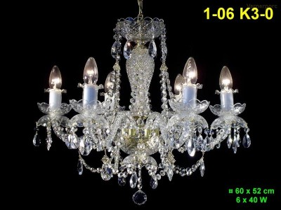 Křišťálový lustr 6-ramenný 60x52cm PL, INL