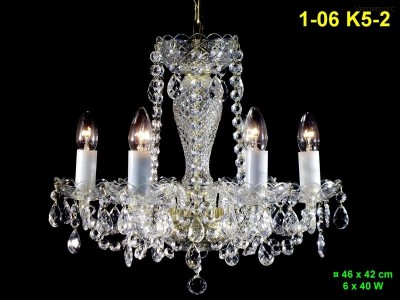 Křišťálový lustr 6-ramenný 46x42cm PL, INL