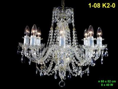 Křišťálový lustr 8-ramenný 60x52cm PL, INL