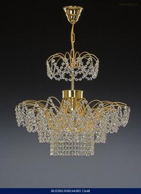 Křišťálový lustr briliant 3-ramenný Tom Crystal Bohemia