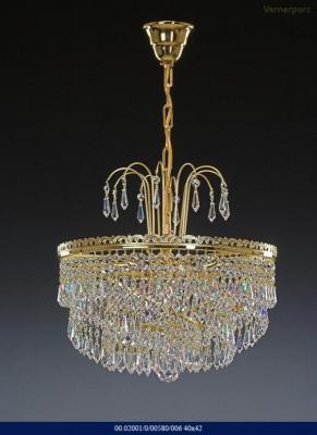 Křišťálový lustr brilliant 40x42cm Tom Crystal Bohemia