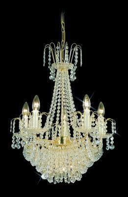 Křišťálový lustr brilliant 11PBB051600008 50x61 cm, 8 světel, zlacený ART JBC