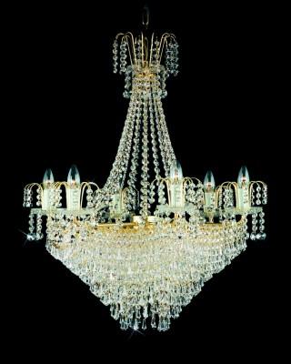 Křišťálový lustr brilliant 12PBB05160009 35x39 cm, 9 světel, zlacený ART JBC