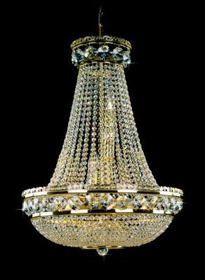 Křišťálový lustr brilliant 1PBB052400012 50x73cm 12 světel, zlacený řetěz ART JBC