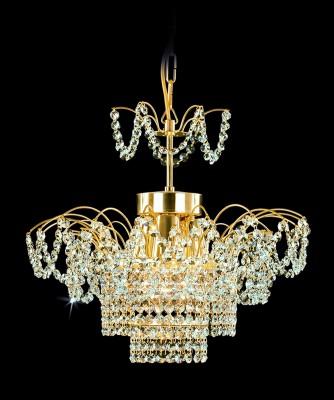 Křišťálový lustr brilliant 26PCA314401003 46x38 cm, 3 světla, zlacený ART JBC