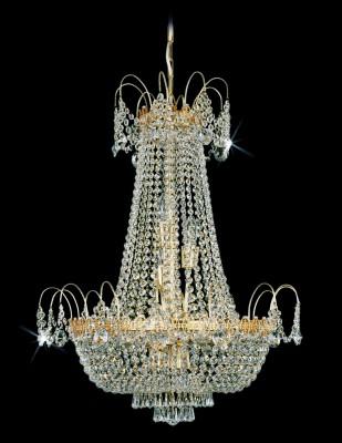 Křišťálový lustr brilliant 2PBB050900012 65x84 cm 12 světel, zlacený řetěz ART JBC