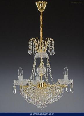Křišťálový lustr brilliant 3-ramenný Tom Crystal Bohemia