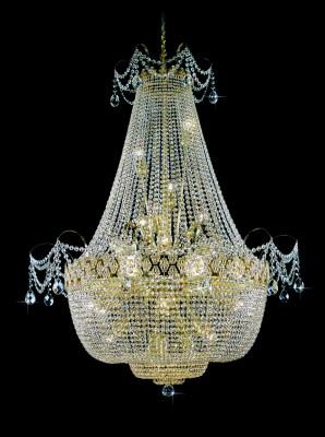 Křišťálový lustr brilliant 3PBB050900024 110x150 cm 24 světel, zlacený řetěz ART JBC