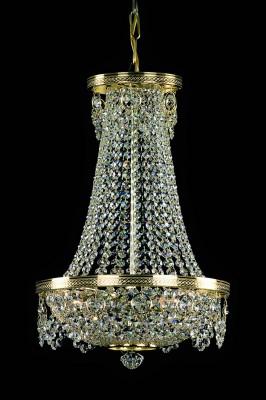 Křišťálový lustr brilliant 5PBB118701003 33x55 cm 3 světla, zlacený řetěz ART JBC