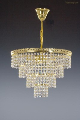 Křišťálový lustr brilliant 6-ramenný 41x31cm Tom Crystal Bohemia