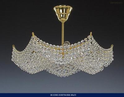 Křišťálový lustr brilliant 6-ramenný 49x33cm Tom Crystal Bohemia