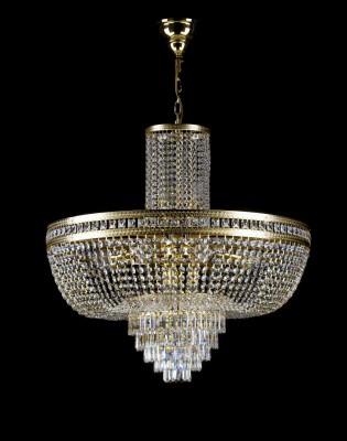 Křišťálový lustr brilliant 6L200CE13 80x79cm 13 světel, zlacený řetěz ART JBC