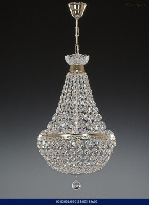 Křišťálový lustr brilliant silver color 35x60cm Tom Crystal Bohemia