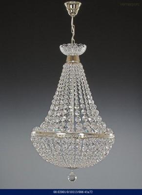 Křišťálový lustr brilliant stříbrný 45x72cm Tom Crystal Bohemia