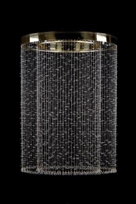 Křišťálový moderní lustr 1L464CE8 90x129 cm 8 světel, zlacený ART JBC