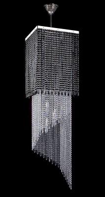 Křišťálový moderní lustr 5L433CE12 40x40x150 cm 12 světel, nikl ART JBC