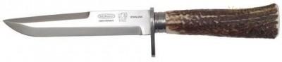 Lovecký nůž 390-NP-1 nerez+paroh Mikov