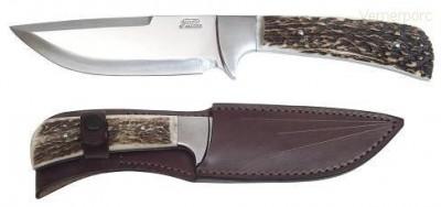 Lovecký nůž 398-NP-13B nerez+paroh Mikov