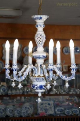 Lustr 6-ramenný Český porcelán