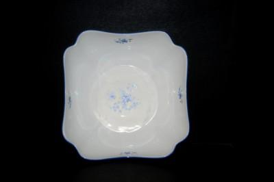 Mísa salátová hluboká čtvercová dekor pomněnky 24cm Český porcelán
