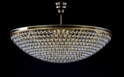 Moderní křišťálový lustr 9L242CL12 100x30 cm, 12 světel,  zlacený ART JBC