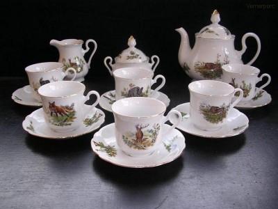 Myslivecká čajová souprava Mary Anne 363 15 dílná Leander Loučky