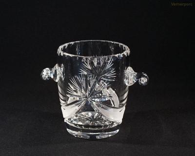 Nádoba na led, křišťál, mašle 82392/17002/140  14cm. Tom Crystal Bohemia