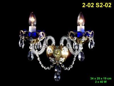 Nástěnné svítidlo smalt 2-ramenné 34x25x19cm PL, INL