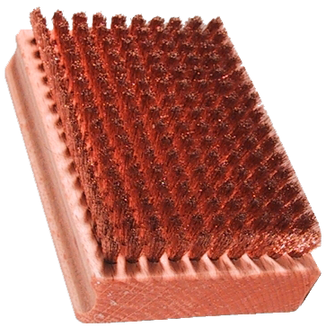 Obdelníkový kartáč s bronzovými štětinami 12009