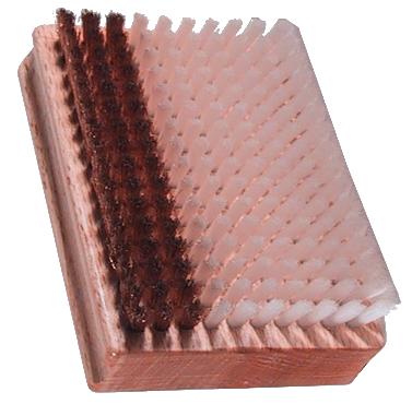 Obdelníkový kartáč s kombinovanými štětinami nylon/bronz 12007