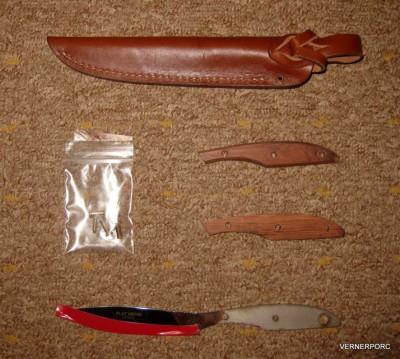 Pevný nůž UR2SF Trout & Bird, Pstruh & Pták na sestavení Grohmann
