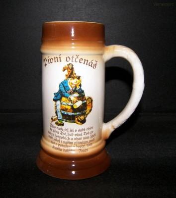 Pivní korbel 0,5l. Pivní otčenáš I. Becom