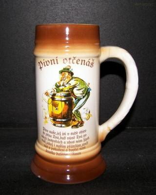 Pivní korbel 0,5l. Pivní otčenáš II. Becom